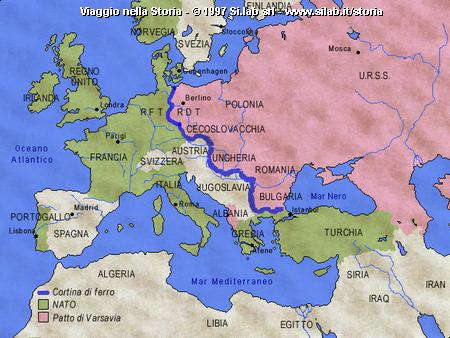 Europa nel 1956: nato e patto di varsavia